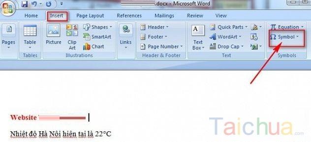 Hướng dẫn cách viết độ C trong word, excel, powerpoint