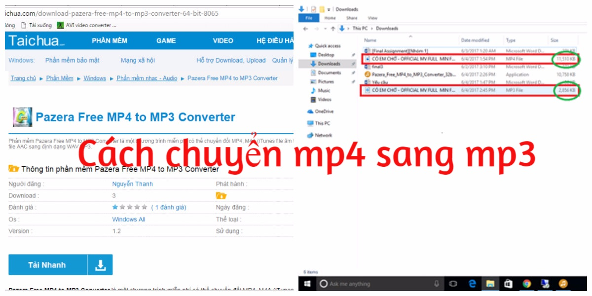 Cách chuyển mp4 sang mp3 bằng phần mềm Pazera Free MP4 to MP3 Converter