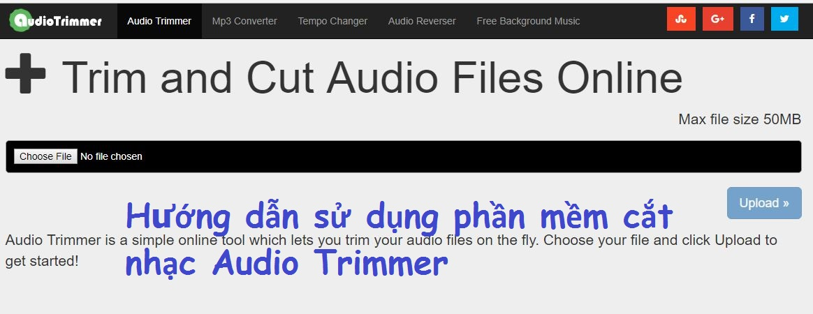 Hướng dẫn sử dụng phần mềm cắt nhạc Audio Trimmer