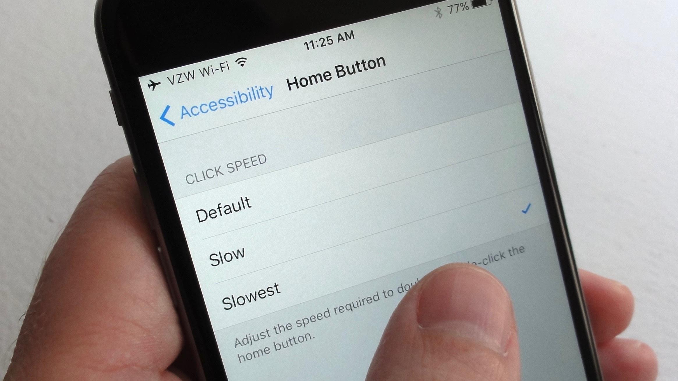 Cách thay đổi độ mờ phím home ảo trên iOS 11
