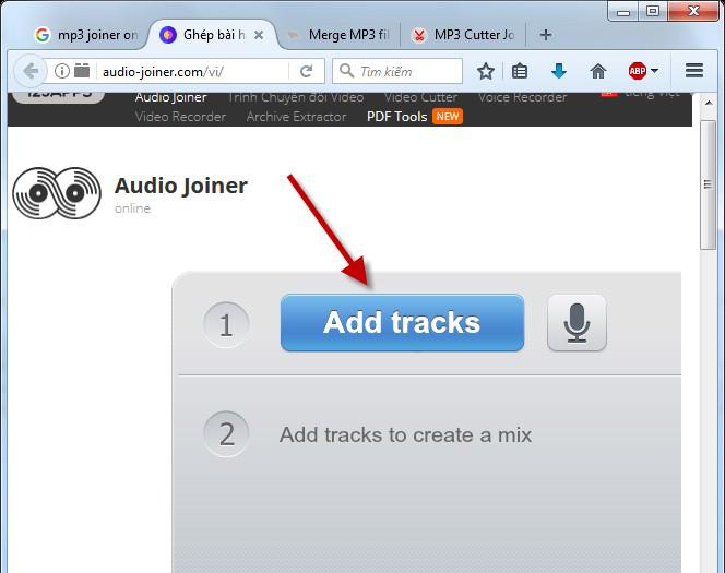 Hướng dẫn ghép nhạc online đơn giản trên máy tính