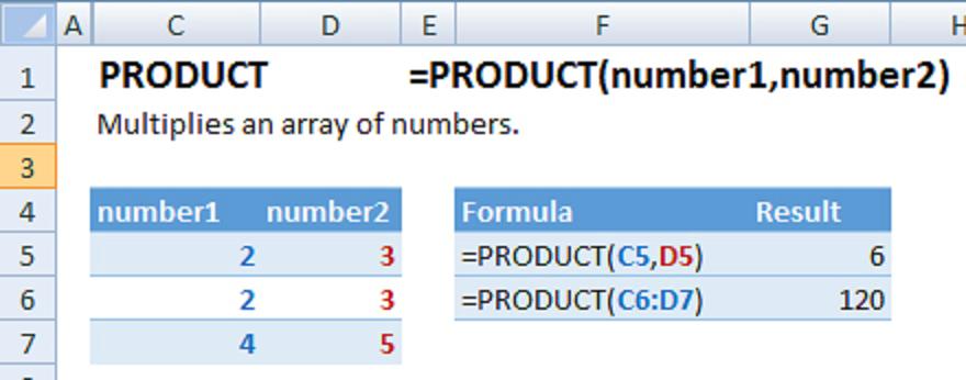 Cách dùng hàm nhân trong Excel dễ hiểu, chi tiết