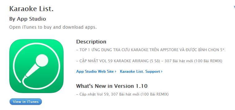 Tra cứu list karaoke bằng ứng dụng Karaoke List