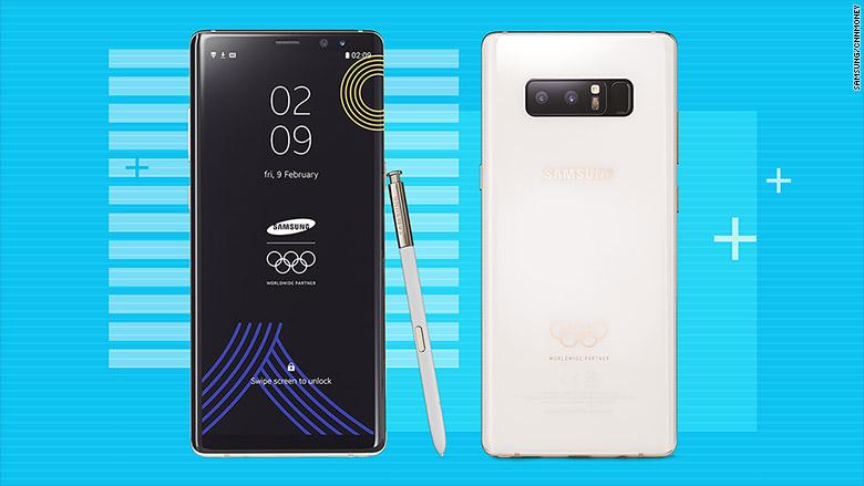 Galaxy Note 8 phiên bản Olympics mùa đông ra mắt